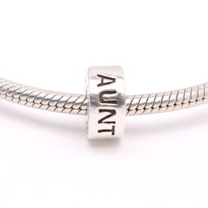 Chamilia Sterling Silver Aunt Charm,Cham 925 Stamp